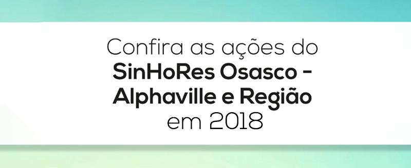 Confira a retrospectiva das ações do SinHoRes em 2018!