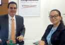 Presidente Edson Pinto recebe coordenadora de Recursos Humanos da rede P.F. Chang's