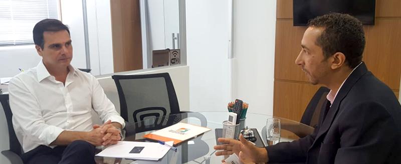 Presidente Edson Pinto se reúne com Daniel Alves, da Agência D3 Brasil